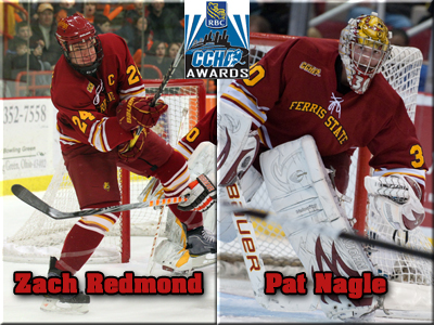 Redmond and Nagle Earn CCHA First-Team Distinction