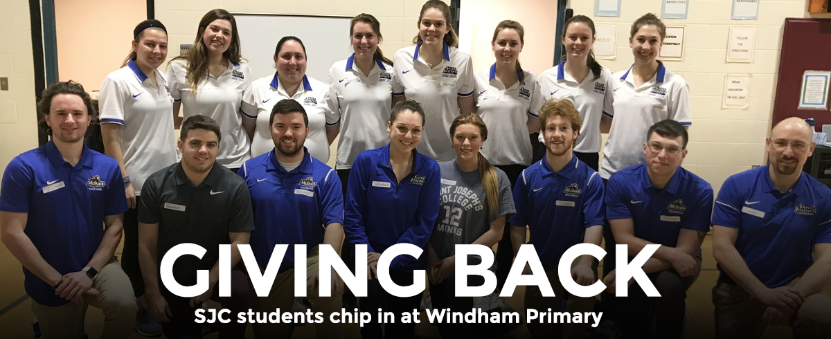 SJC students chip in at Windham Primary