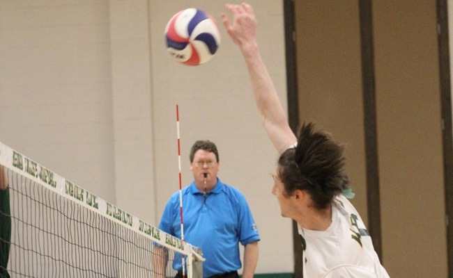 Alex Riley had 10 kills in the win for Keuka -- Photo by Ed Webber