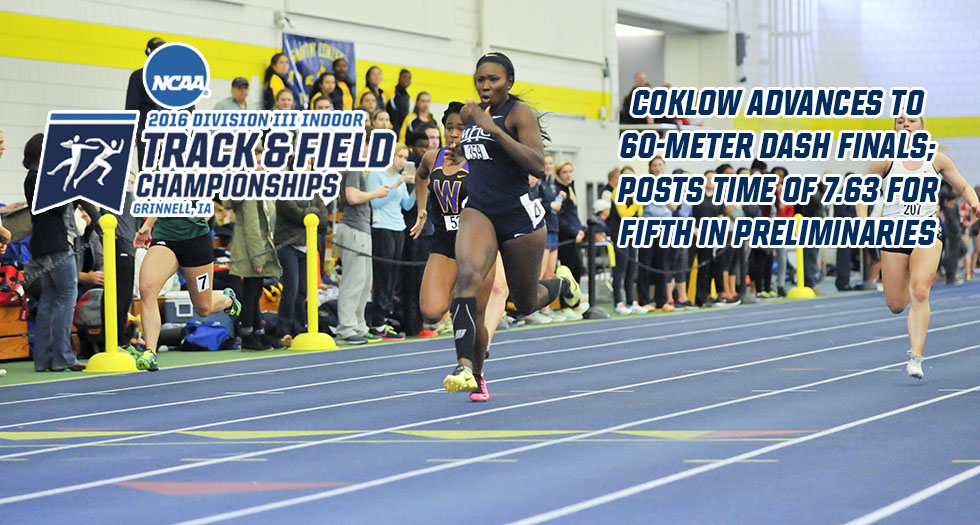 Coklow Places 5th in 60M Preliminaries; Advances to National Final