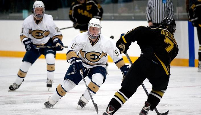 Men's Hockey Bounces Back with Shutout Win Over Rival Stout
