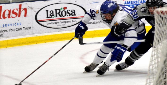 Men's Hockey plays to 5-5 tie against No. 14 St. Scholastica