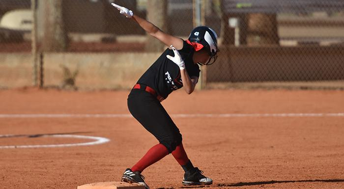 The Eagles opened the season with a pair of wins, scoring 39 runs in four games. (Photo by Tom Hagerty, Polk State).