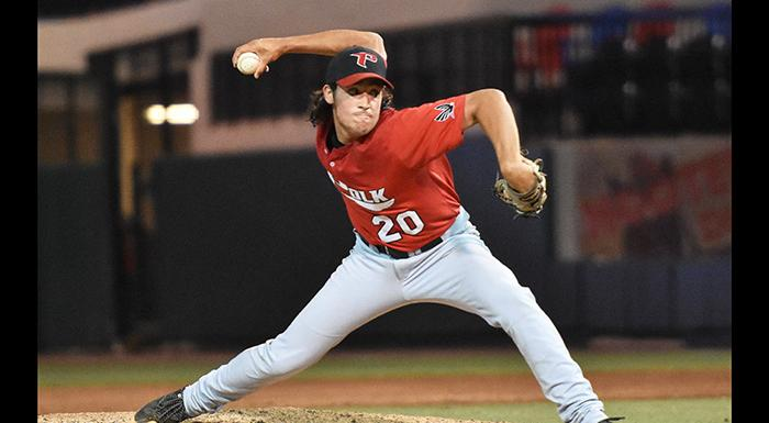 Zach Schneider will compete against the nation's top collegiate talent in the Cape Cod League. (Photo by Tom Hagerty, Polk State.)