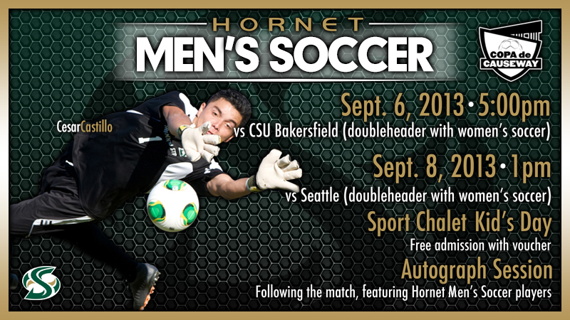MEN'S SOCCER HOME TO HOST TWO MATCHES IN COPA DE CAUSEWAY