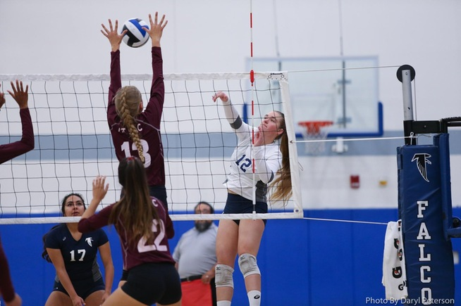 File Photo: Brooke Winquist posted five kills for the Falcons