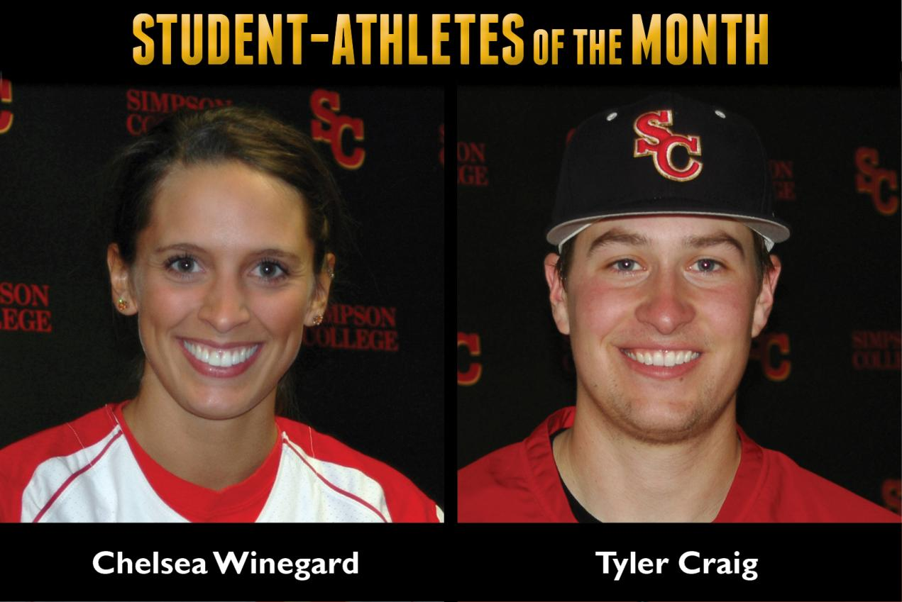 Winegard, Craig named March Student-Athletes of the Month