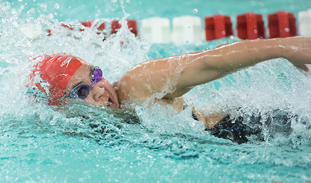 Cougars Drop in Dual Meet with Wheaton and Mount Holyoke