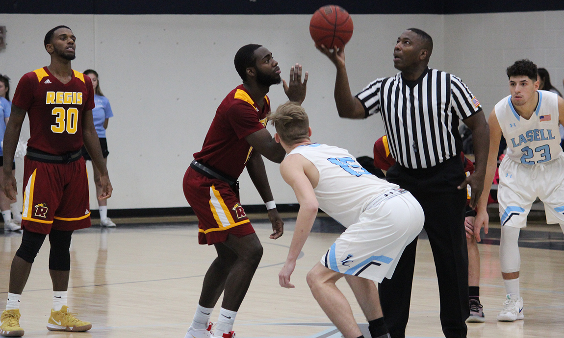 Regis Men's Basketball Succumbs to Lasell Rally