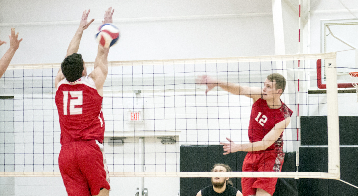 Men's Volleyball Dispatches Lancaster Bible In Five Sets