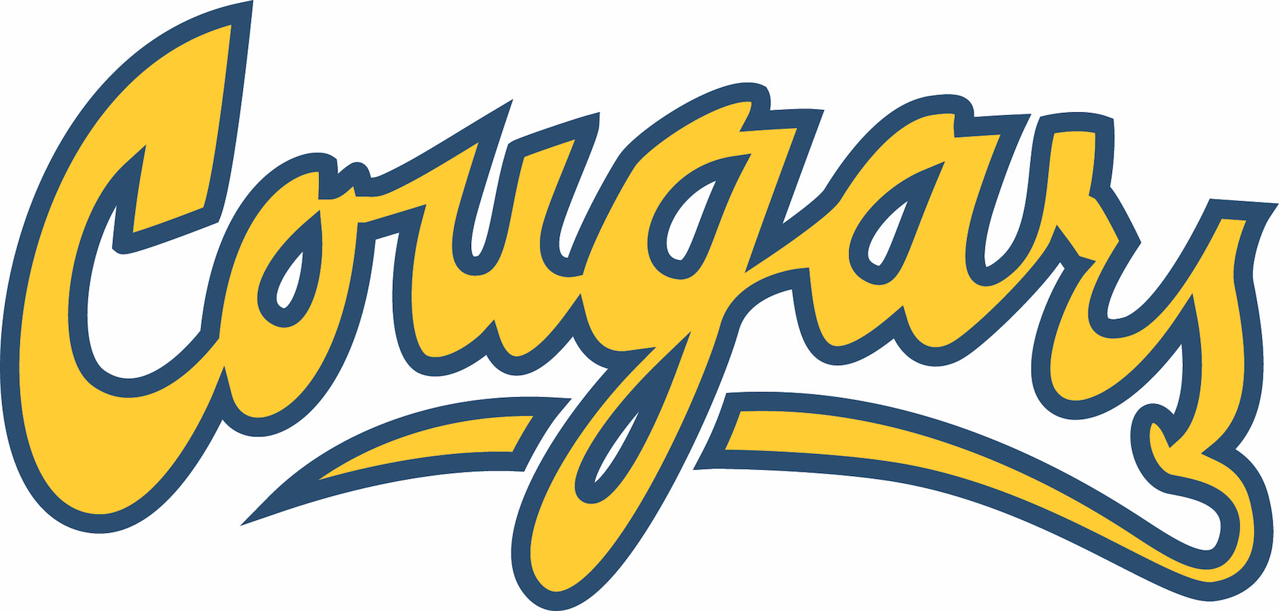College of the Canyons Cougars script logo.