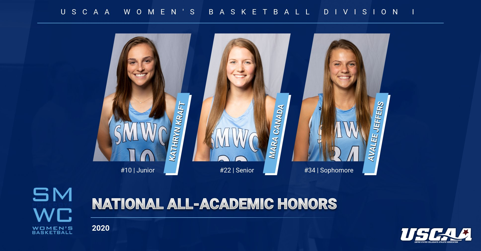 Three Women's Basketball Players Earn USCAA National All-Academic Honors