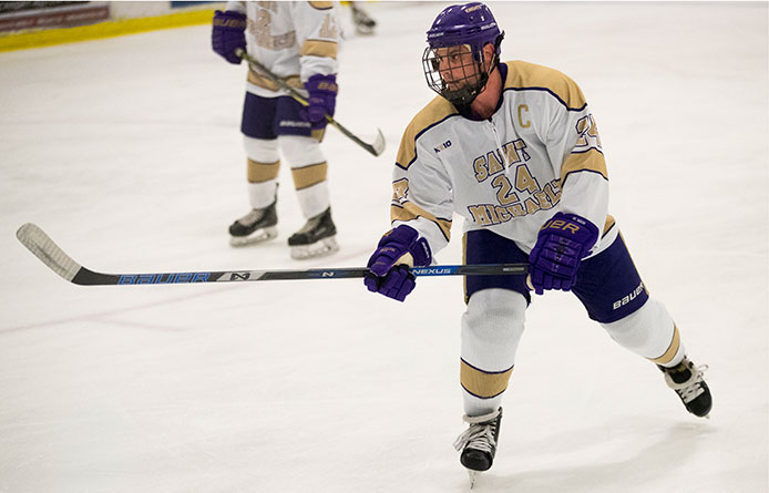 First-Place Men's Ice Hockey Grabs 2-1 Victory Over Saint Anselm