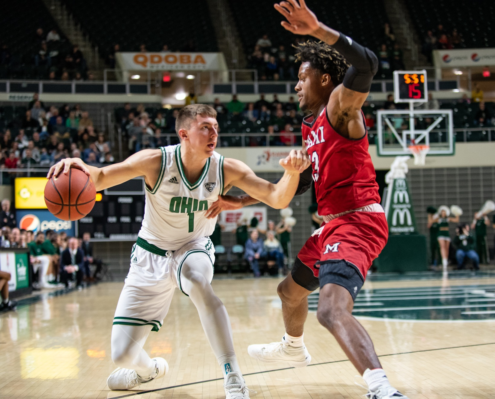 Ohio Men's Basketball Sends Seniors Off with 66-57 Victory over Miami
