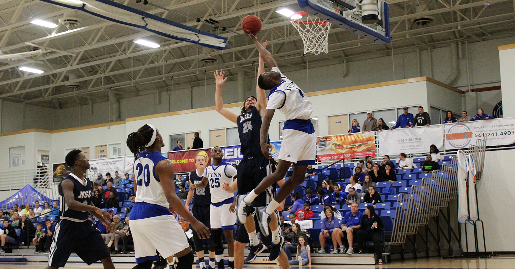 Men's Basketball Stifles Comeback, Sinks Nova at Home