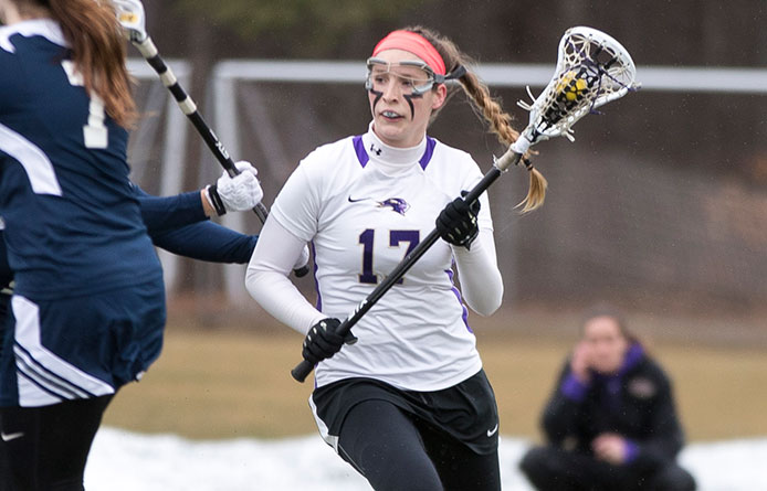 Women's lacrosse downs Saint Anselm, Dineen and Moyna combine for 12 points
