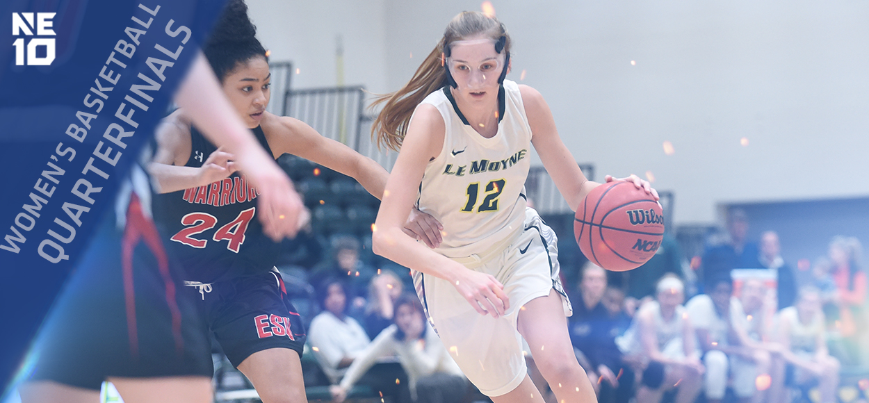Embrace the Championship: Top Seeds Bentley and Le Moyne Move On to NE10 Women's Basketball Semifinals