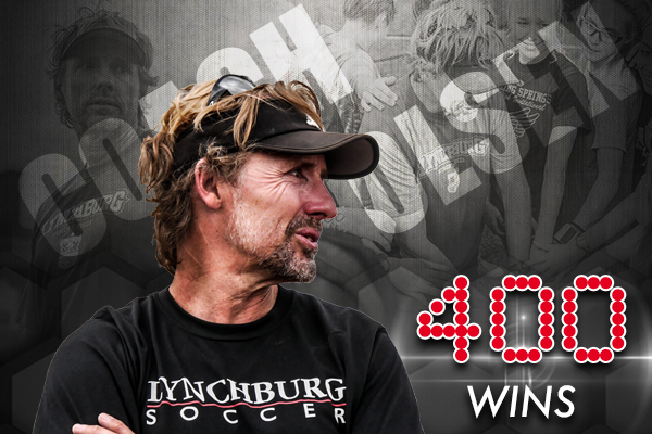 Dr. Todd Olsen has won 400 games as the Lynchburg women's soccer head coach.