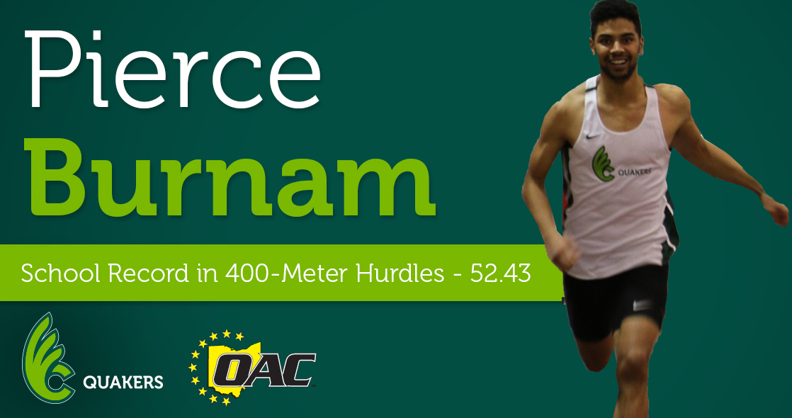 Burnam Sets New School Record in 400-Hurdles With Win at Ohio Wesleyan