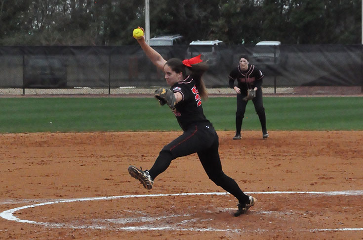 Softball: Panthers split season-opening doubleheader with Belhaven