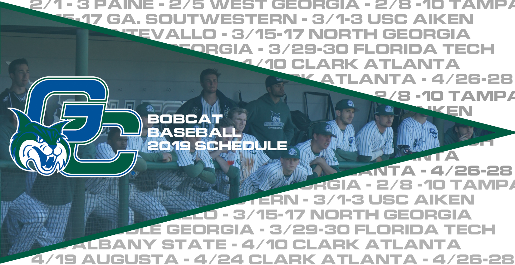 2019 Bobcat Baseball Schedule