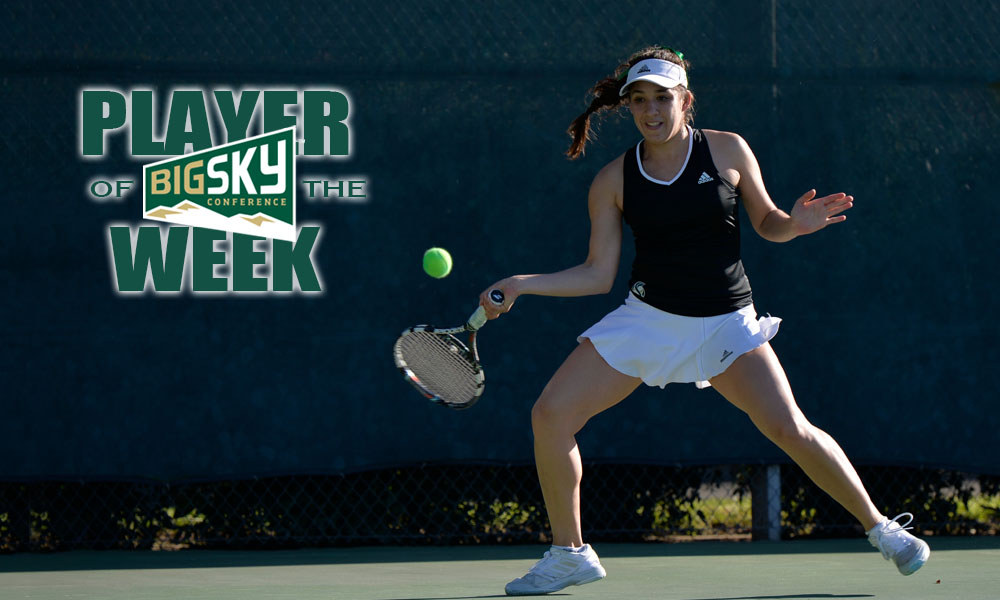 LOAIZA ESQUIVIAS NAMED BIG SKY WOMEN'S TENNIS PLAYER OF THE WEEK