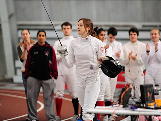 Women's fencing competes at Philly Invitational