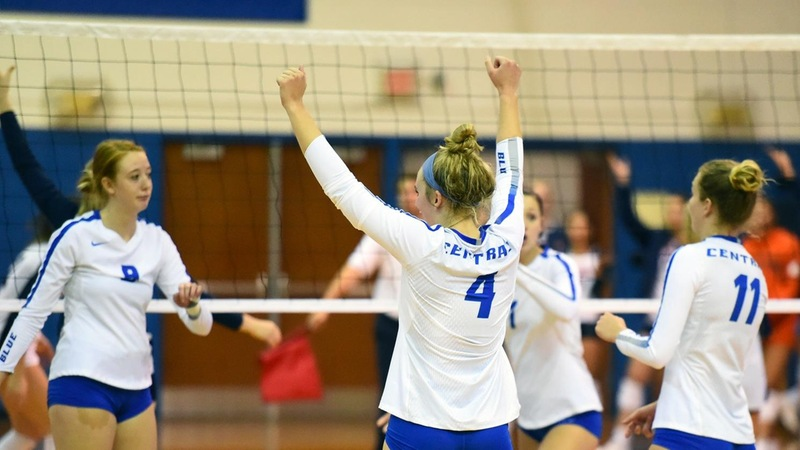 Volleyball Splits Saturday Matches at Hartford Invitational