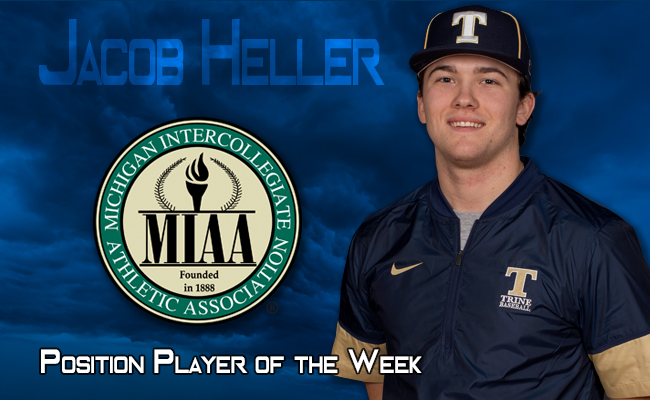 "Heller Named MIAA ""Position Player of the Week"""