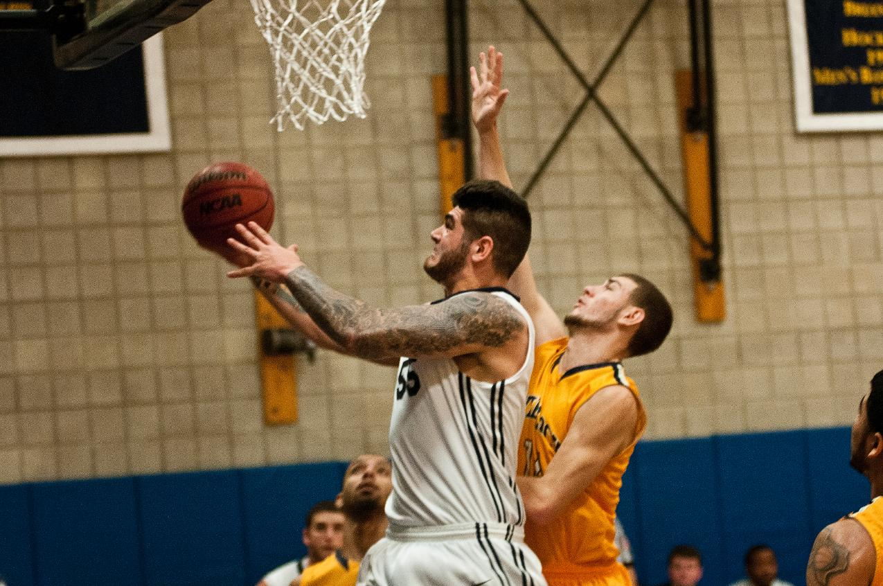 Duquette and Meister Lift Men's Basketball to 79-72 Win over Emmanuel