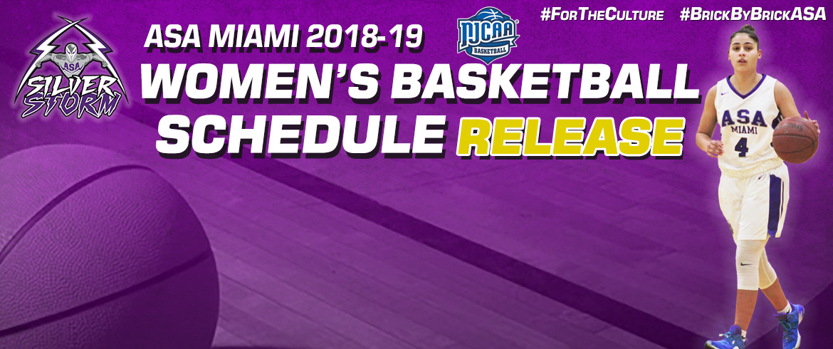 ASA Miami Women's Basketball Releases 2018-19 Schedule