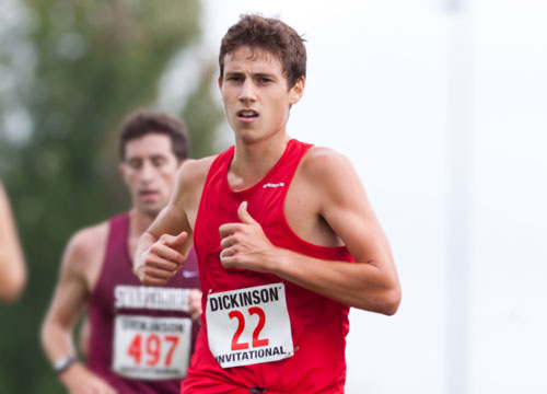 Dave Breen won the 3000 meter steeplechase, leading the Red Devils to the title at the McDaniel Twilight Meet on Wednesday<BR>