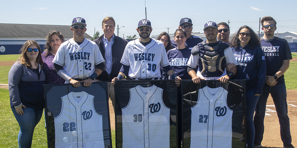 Baseball celebrates seniors with berth to first-ever Atlantic East Conference Tournament