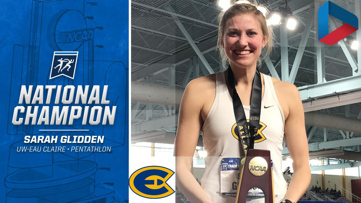 Glidden claims national title as Blugolds start strong at NCAA Indoor Championships