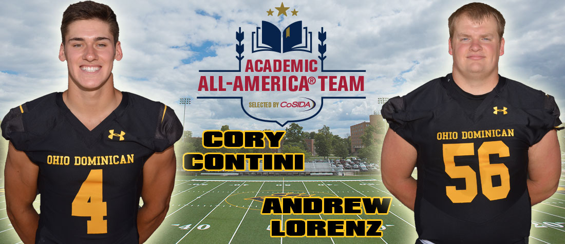 Contini, Lorenz Named Academic All-Americans