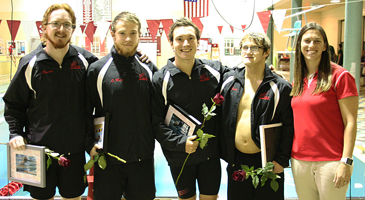 Seniors Lead Men's Swimming To Victory