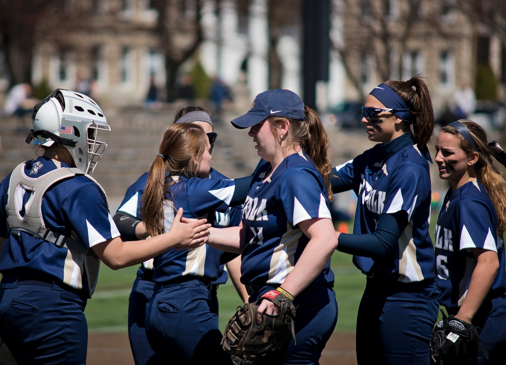 Softball Sets Program Homer Record Over Lasell