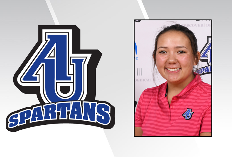 Aurora University freshman Kallie Sakamoto has been named the NACC Women's Golf Student-Athlete of the Week for the week of August 28-September 2.