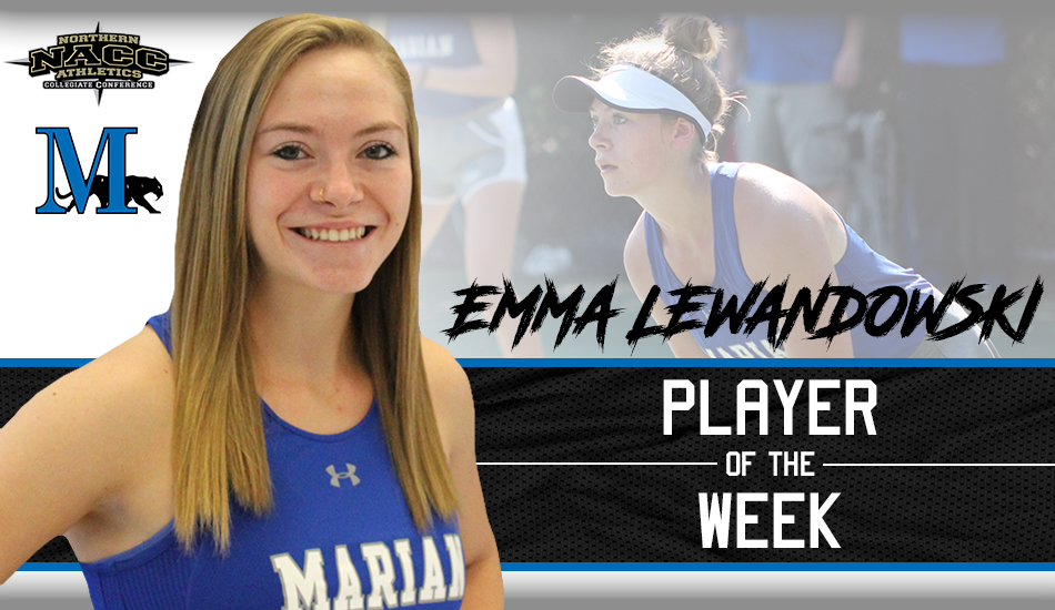 Emma Lewandowski Player of the Week graphic.