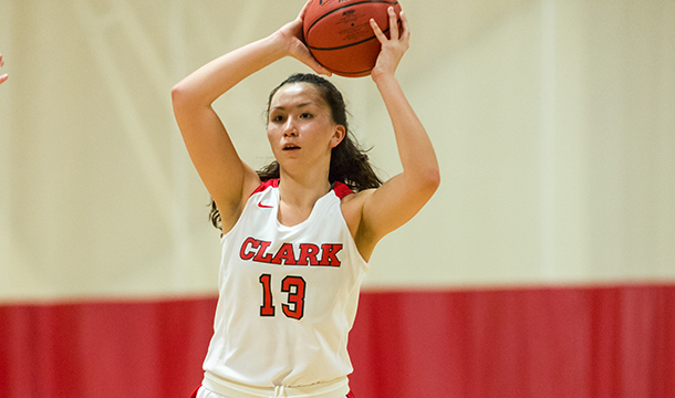 Rachael Chen finished with seven points and six rebounds in the 55-45 loss at WPI.
