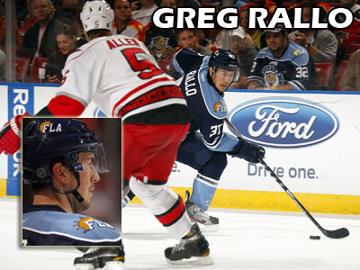 Former Bulldog Greg Rallo skates for the Florida Panthers in his NHL debut (Photos courtesy of Eliot J. Schechter)