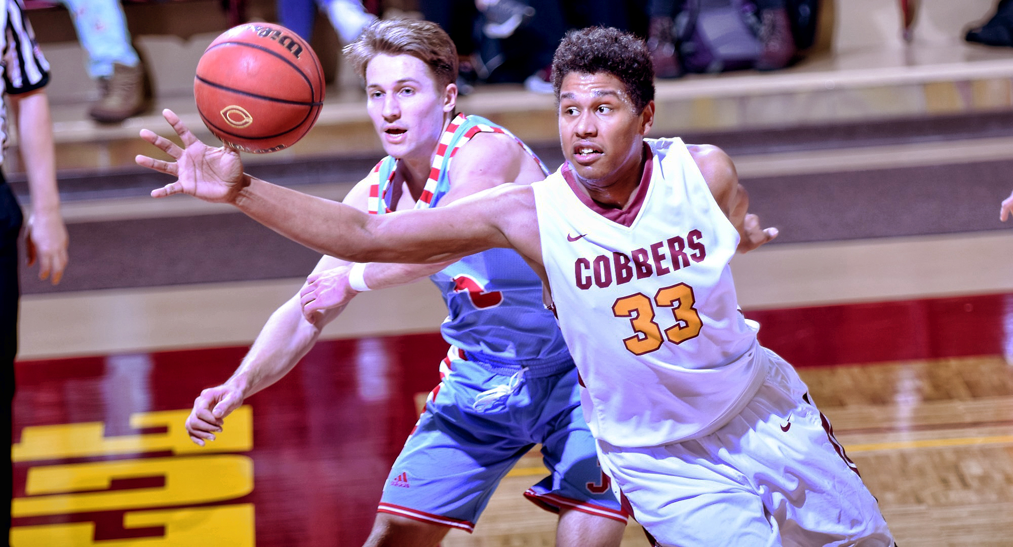 Ty Setness had five points and four rebounds in the Cobbers' game at #12 St. John's.