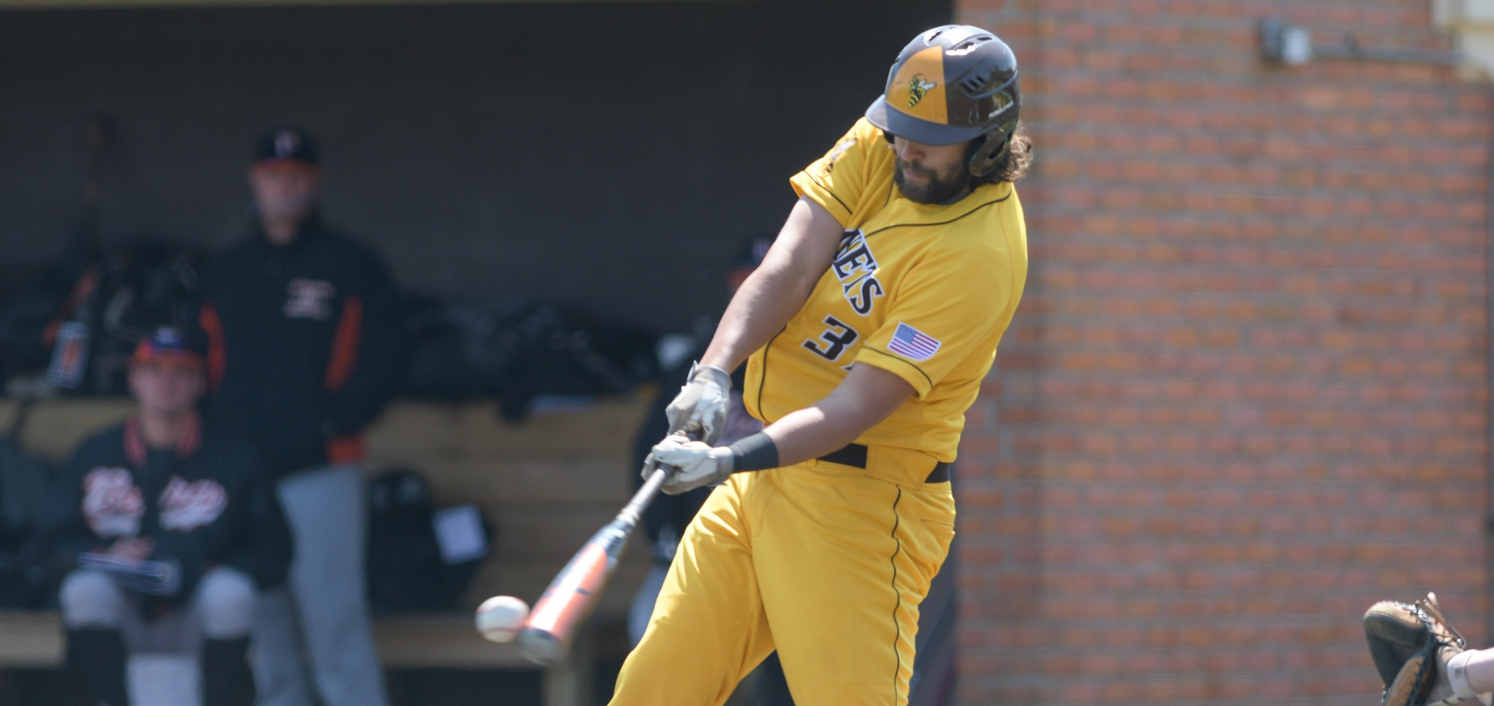 Junior designated hitter Philip Wells hit two doubles and had three RBIs in the NCAA Tournament game against Swarthmore (Photo courtesy of Jesse Kucewicz)
