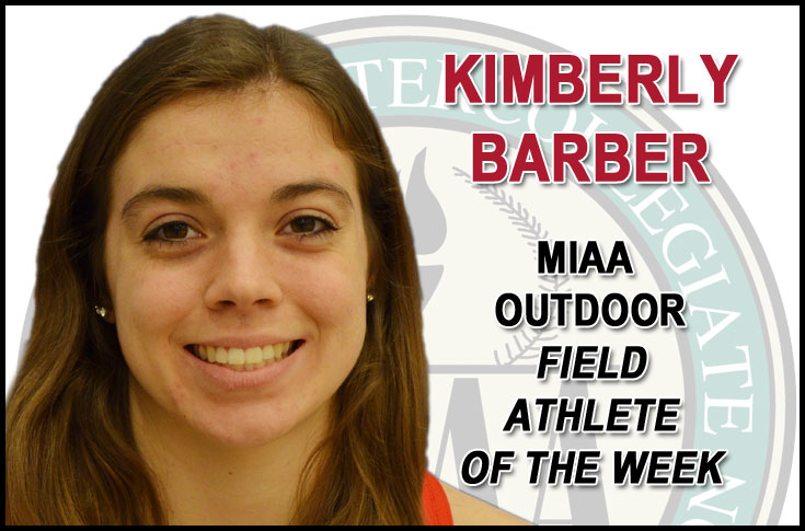 Olivet College's Barber named MIAA Outdoor Field Athlete of the Week