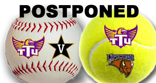 Weather continues to force schedule changes; Baseball and tennis affected