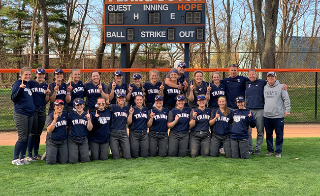 Softball Secures Ninth MIAA Regular Season Title with Sweep of Hope