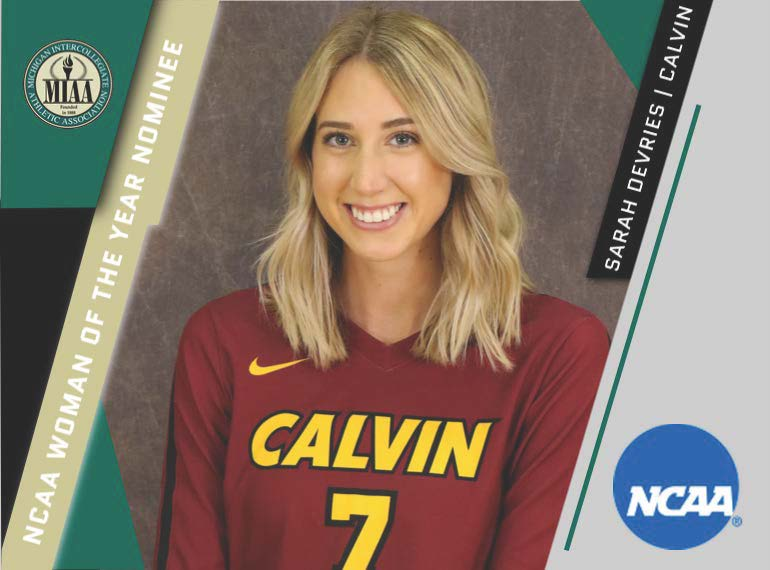 Calvin's DeVries Selected MIAA Nominee for NCAA Woman of the Year Award