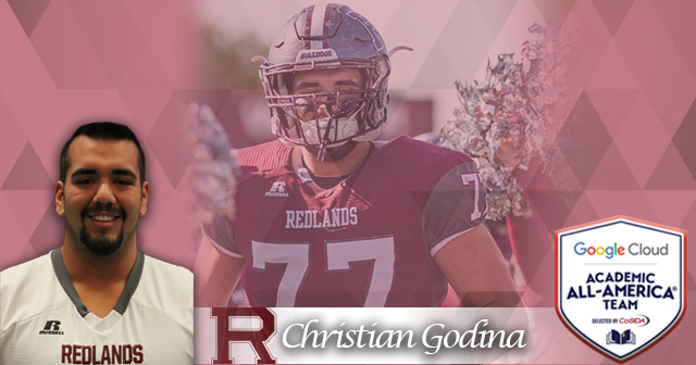 Redlands: Godina Named Google Cloud Academic All-American