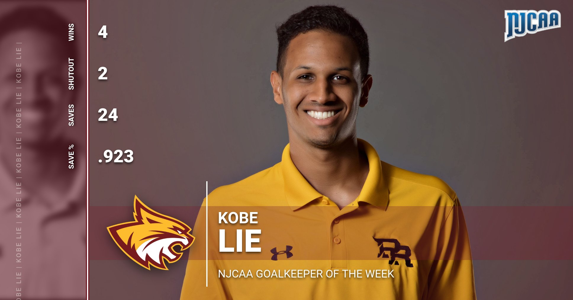 PRCC's Kobe Lie named nation's top keeper for Week 1