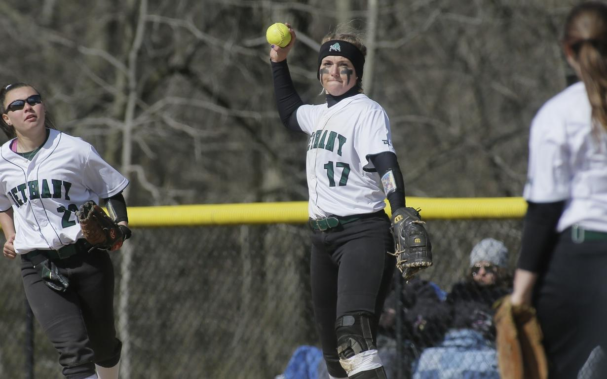 Softball swept by Thomas More